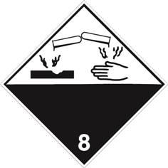 Corrosif ADR 8