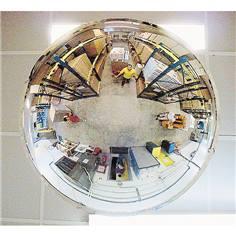 Miroir hémisphérique mural ou plafond 1/2 sphère pour entrepôts