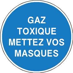 Gaz toxiques mettez vos masques - STF 2340S