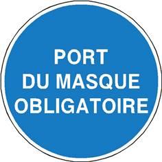 Port du masque obligatoire - STF 2323S