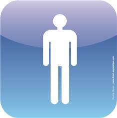 Plaque de porte Icone® - Toilettes hommes