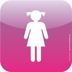 Plaque de porte Icone® - Toilettes filles