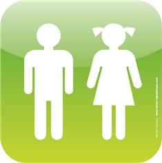 Plaque de porte Icone® - Toilettes enfants