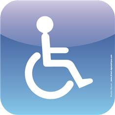 Plaque de porte Icone® - Toilettes handicapés