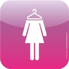Plaque de porte Icone® - Vestiaires femmes