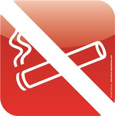 Plaque de porte Icone® - Zone non fumeurs