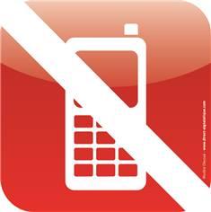 Plaque de porte Icone® - Téléphone portable interdit