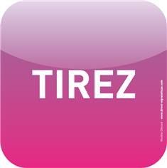 Plaque de porte Icone® -Tirez