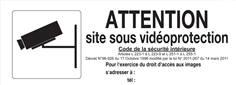 Panneau Attention site sous vidéo protection - PVC - H 120 x L 330 mm