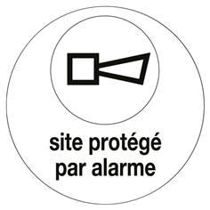 Autocollant Site protegé par alarme