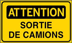 Attention Sortie de camions - STF 3526S