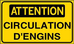 Attention Circulation d´engins - STF 3120S