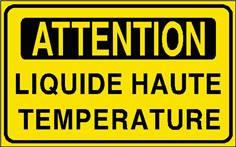 Attention Liquide haute température - STF 2906S