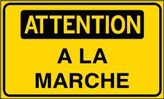 Attention à la marche - STF 3123S