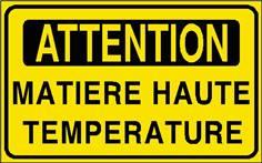 Attention Matière haute température - STF 2907S