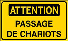 Attention Passage de chariots - STF 3118S