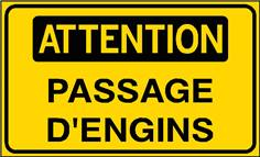 Attention Passage d´engins - STF 3119S
