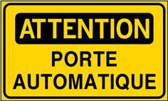 Attention Porte automatique - STF 3523S