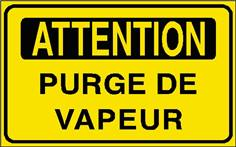 Attention Purge de vapeur - STF 2909S
