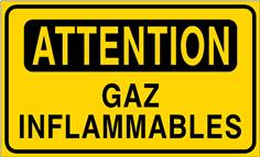 Attention gaz inflammables - STF 3411S