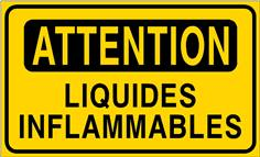 Attention liquides inflammables - STF 3410S
