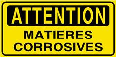 Attention Matières corrosives - STF 2807S