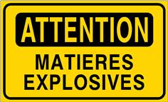 Attention matières explosives - STF 3412S