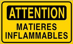 Attention matières inflammables - STF 3409S