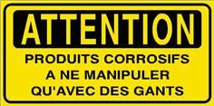 Attention Produits corrosifs à ne manipuler qu´avec... - STF 2810S