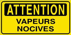 Attention Vapeurs nocives - STF 2808S