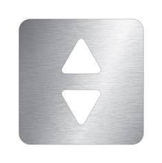 Pictogramme ascenseur découpé en aluminium brossé - 100 x 100 mm