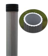 Poteau rond en aluminium anodisé naturel - Ø 60 mm