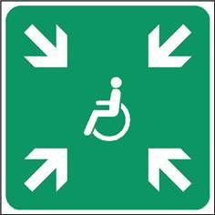 Point de rassemblement handicapés