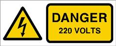 Danger 220 volts - STF 2410S