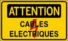 Attention cables électriques - STF 2421S