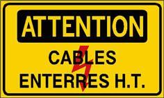 Attention cables enterrés H.T. - STF 2422S