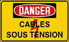Danger cables sous tension - STF 2437S