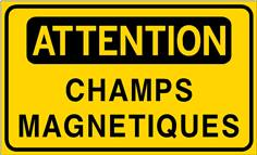 Attention Champs magnétiques - STF 3511S