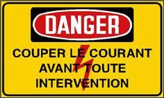 Danger couper le courant avant toute intervention - STF 2431S