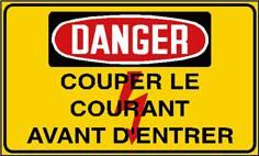 Danger couper le courant avant d´entrer - STF 2440S
