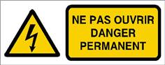Ne pas ouvrir danger permanent - STF 2415S