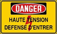 Danger haute tension défense d´entrer - STF 2427S