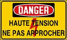 Danger haute tension ne pas approcher - STF 2439S