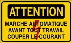Attention marche automatique Avt tout travail couper le courant STF 2424S
