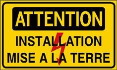 Attention installation mise à la terre - STF 2423S