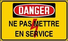 Danger ne pas mettre en service - STF 2426S