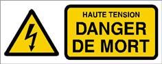 Haute tension danger de mort - STF 2419S