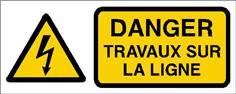 Danger travaux sur la ligne - STF 2412S