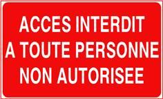 Accès interdit à toute personne non autorisée - STF 3228S