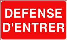 Défense d´entrer - STF 3220S